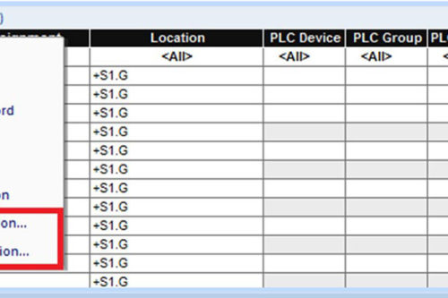 Device table configuration